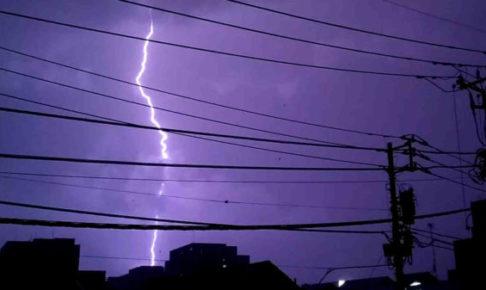 GIF 画像で作る迫力満点の雷アニメーション!