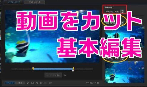 【使い方】PowerDirector 動画カット、分割、トリミングする方法